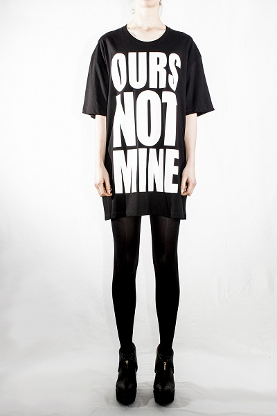 Unisex Cybele ours not mine Long T Black
